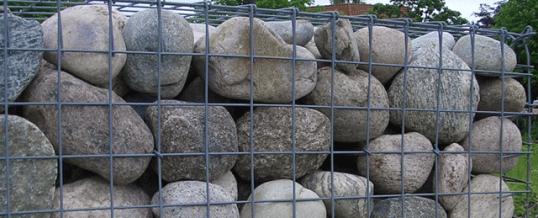 DRAHT-WERNER Gabionenzäune – Drahtgitterzäune, Mauersteinkörbe mit Natursteinfüllung